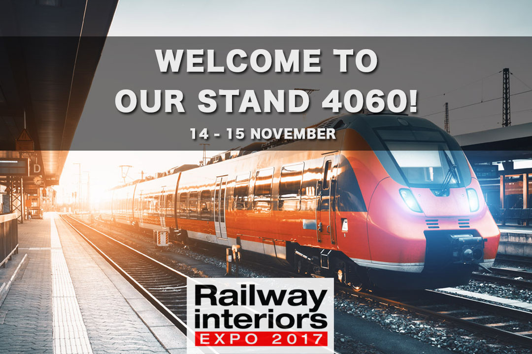 Meet Us At Railway Interiors Expo 2017!